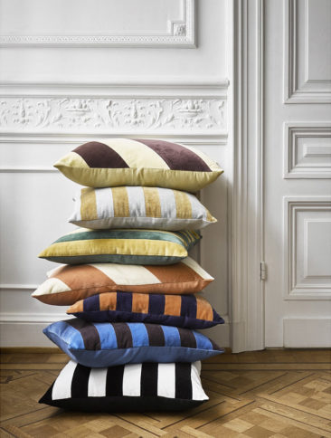 Catalogue HK Living AW2020 - Collection de coussins à rayures