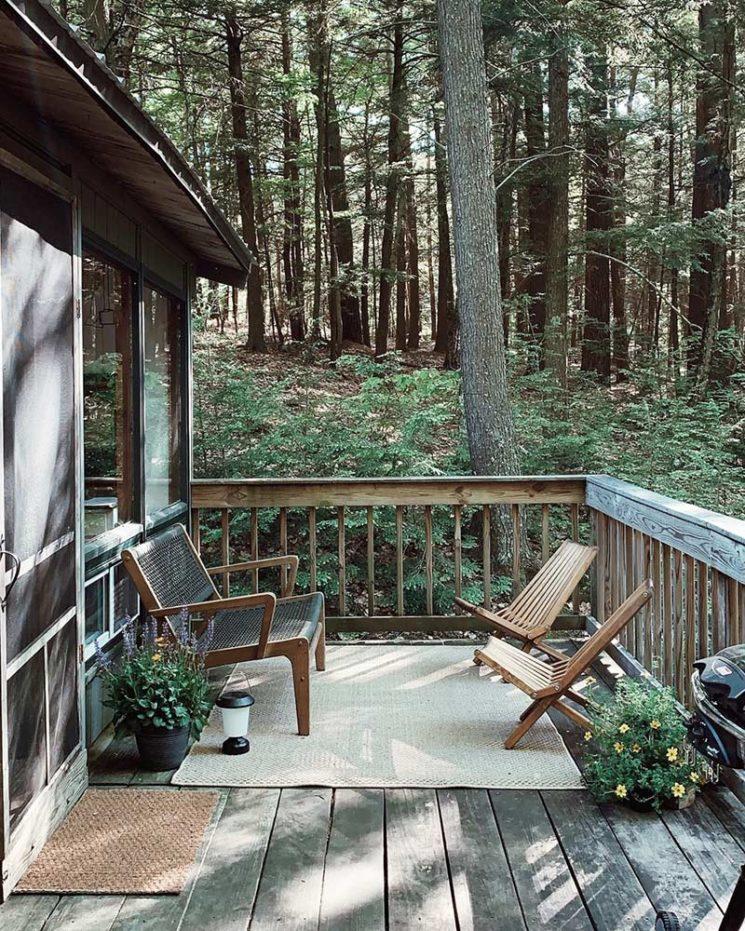 Un refuge dans les bois dans le New Hampshire