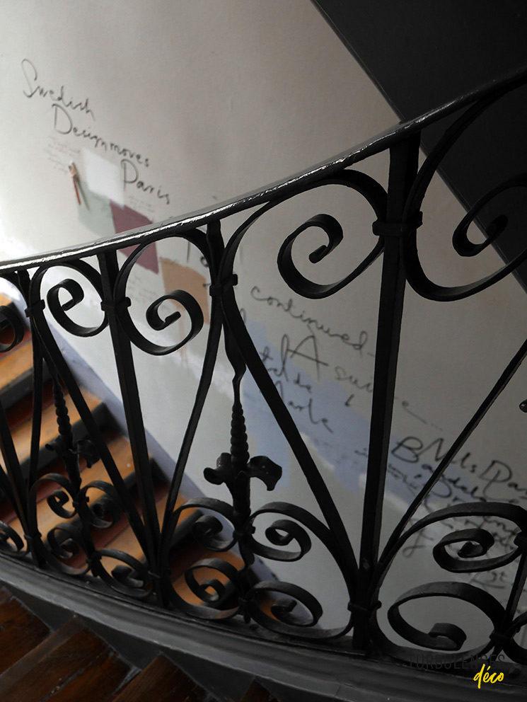 Les escaliers de l'Institut Suédois