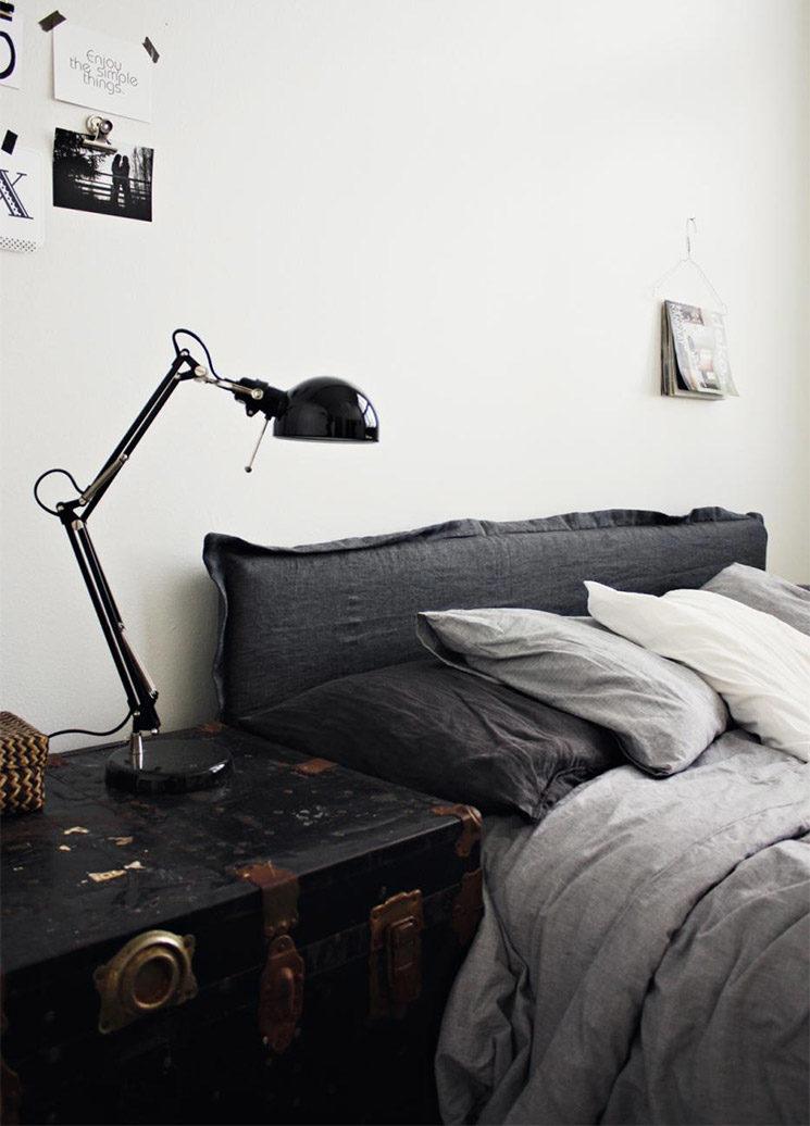 La beauté du lin dans la chambre à coucher