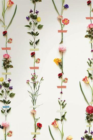 Papier-peint botanique - Modèle de papier-peint Kashku