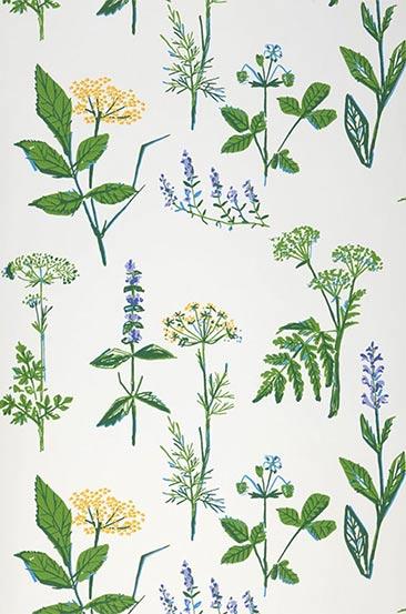 Papier-peint botanique - Modèle de papier-peint Evelani