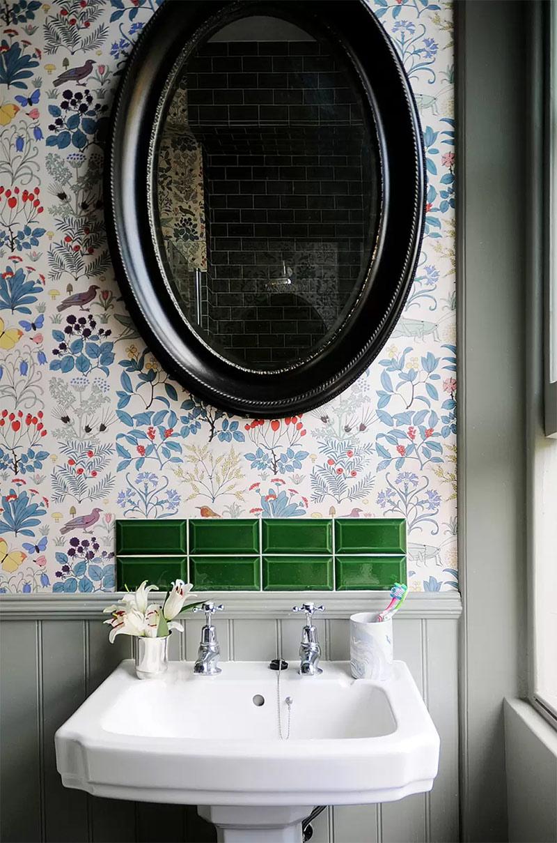Osez un papier-peint fleuri ! // Design Intérieur : Luke Edward Hall & Duncan Campbell