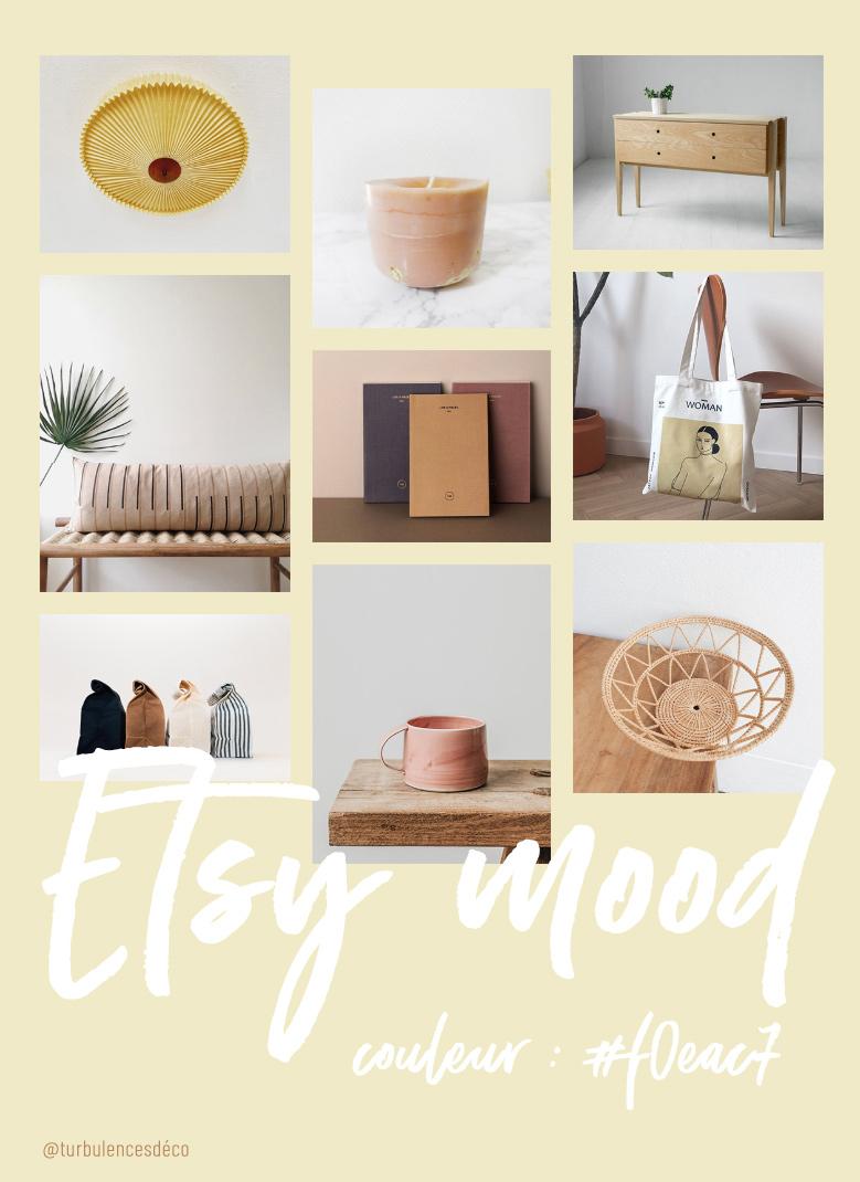 Etsy Mood : couleur #f0eac7 // Une sélection de produits déco et lifestyle, trouvés sur Etsy @turbulencesdeco