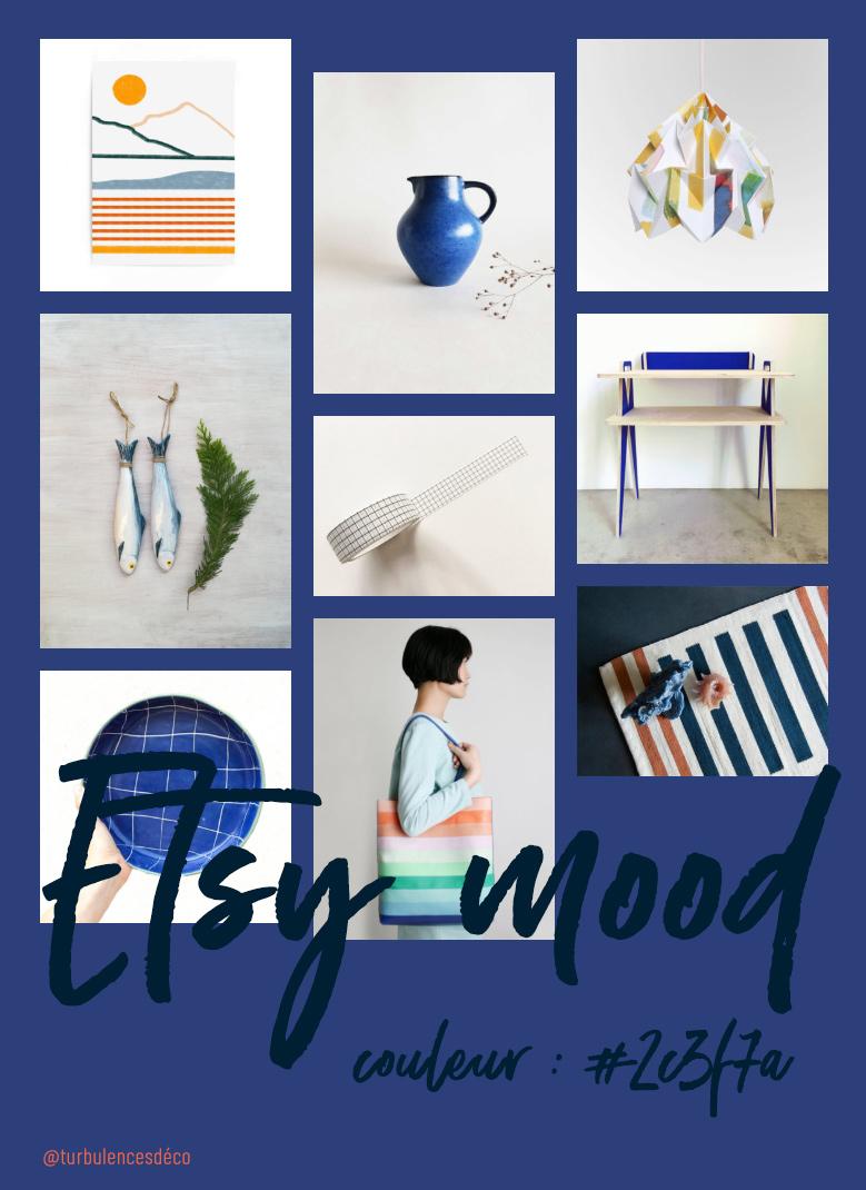 Etsy Mood : couleur #2c3f7a // Une sélection de produits déco et lifestyle, trouvés sur Etsy @turbulencesdeco