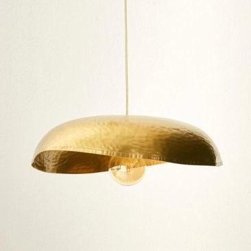 Cyrillus - Suspension en métal doré, martelé, 99,90 €