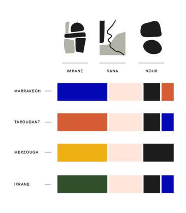 Collaboration Les Oies Sauvages et le studio Frank&Màs - Modèles et couleurs