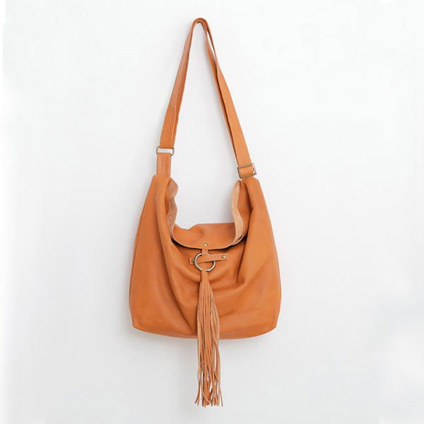 Sac en cuir, style besace, camel - Boutique Etsy Mayko Bags