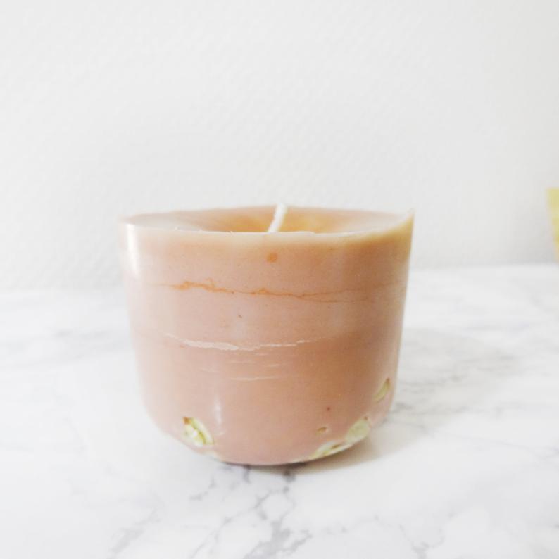 Etsy boutique Ponoie - Bougie parfuméee à l'ananas et à la bergamote
