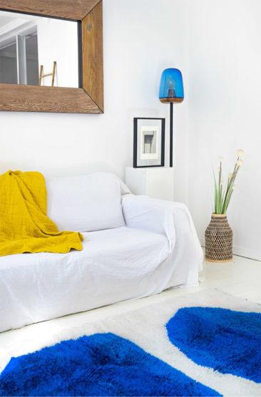 Collaboration Les Oies Sauvages et le studio Frank&Màs - Tapis sur mesure, marocain, modèle Nour