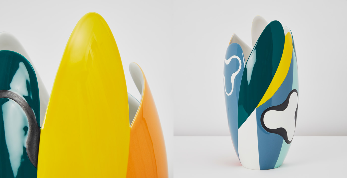 Vases par le Alessandro Mendini Sinuoso pour la Maison Matisse