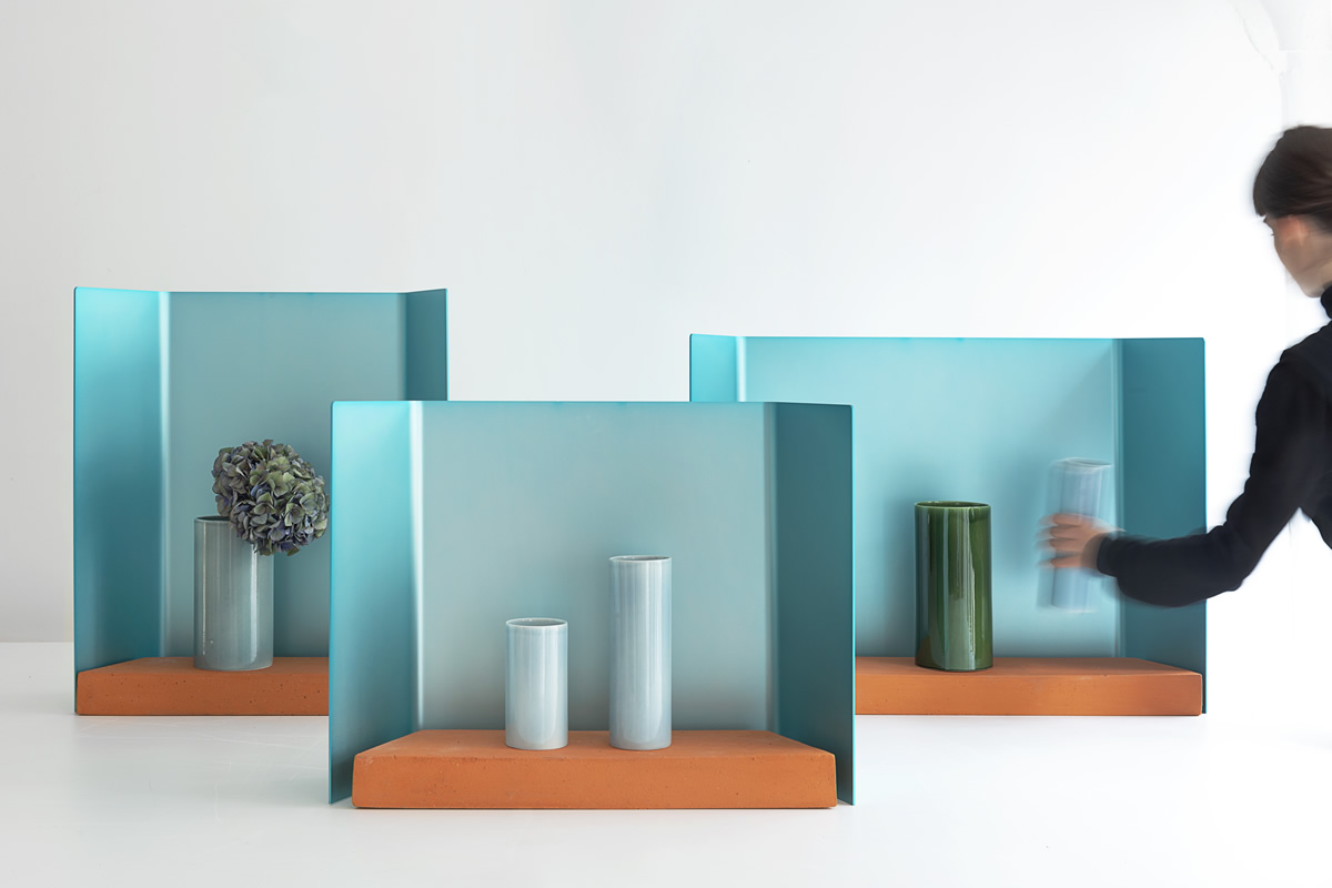 Vase Fenêtre Trio par le Studio Bouroullec pour la Maison Matisse