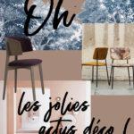 Oh les jolies actus ! Du papier-peint, des chaises, une expo