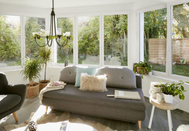 Lapeyre - Fenêtre et porte-fenêtre battante en PVC Pria