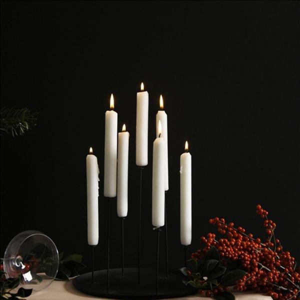 Bougeoir en métal et pin noir, Multi Candle - Eno Studio