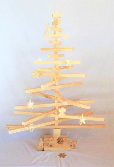 Boutique Etsy Je rêve en bois - Sapin de Noël en bois articulé