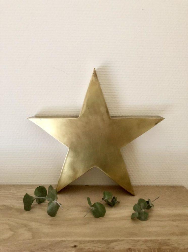 Grande étoile en laiton à poser ou à suspendre - Boutique Etsy Les Enfants Sauvages