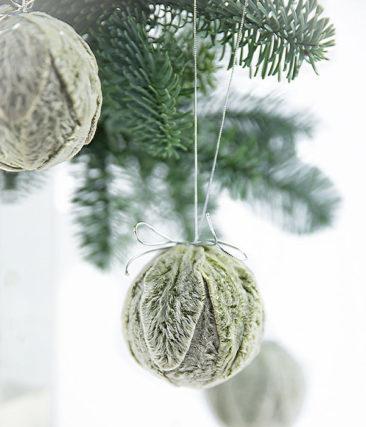 Boules de Noël en feuilles séchées - Boutique Etsy Kadela