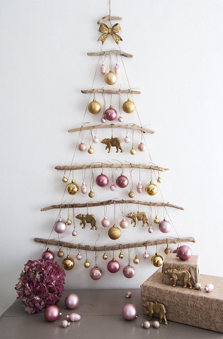 Boutique Etsy Brocante Ma Jolie - Sapin de Noël mural en bois flotté