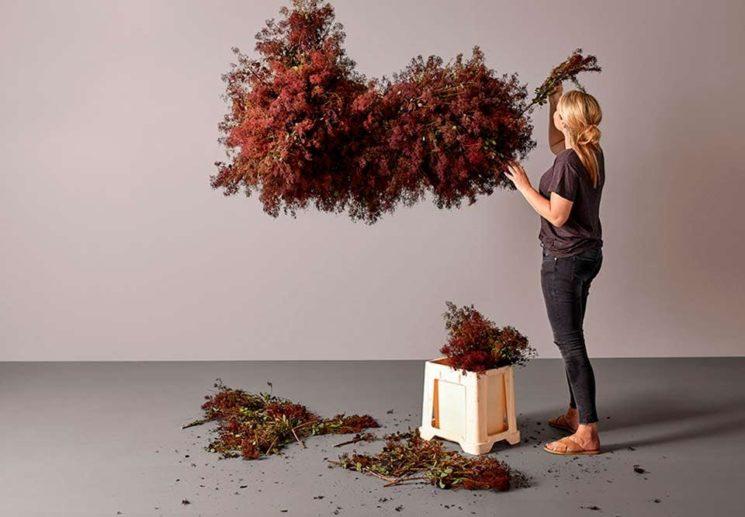 Installation florale à retrouver sur le compte Instagram de @boconcept_official