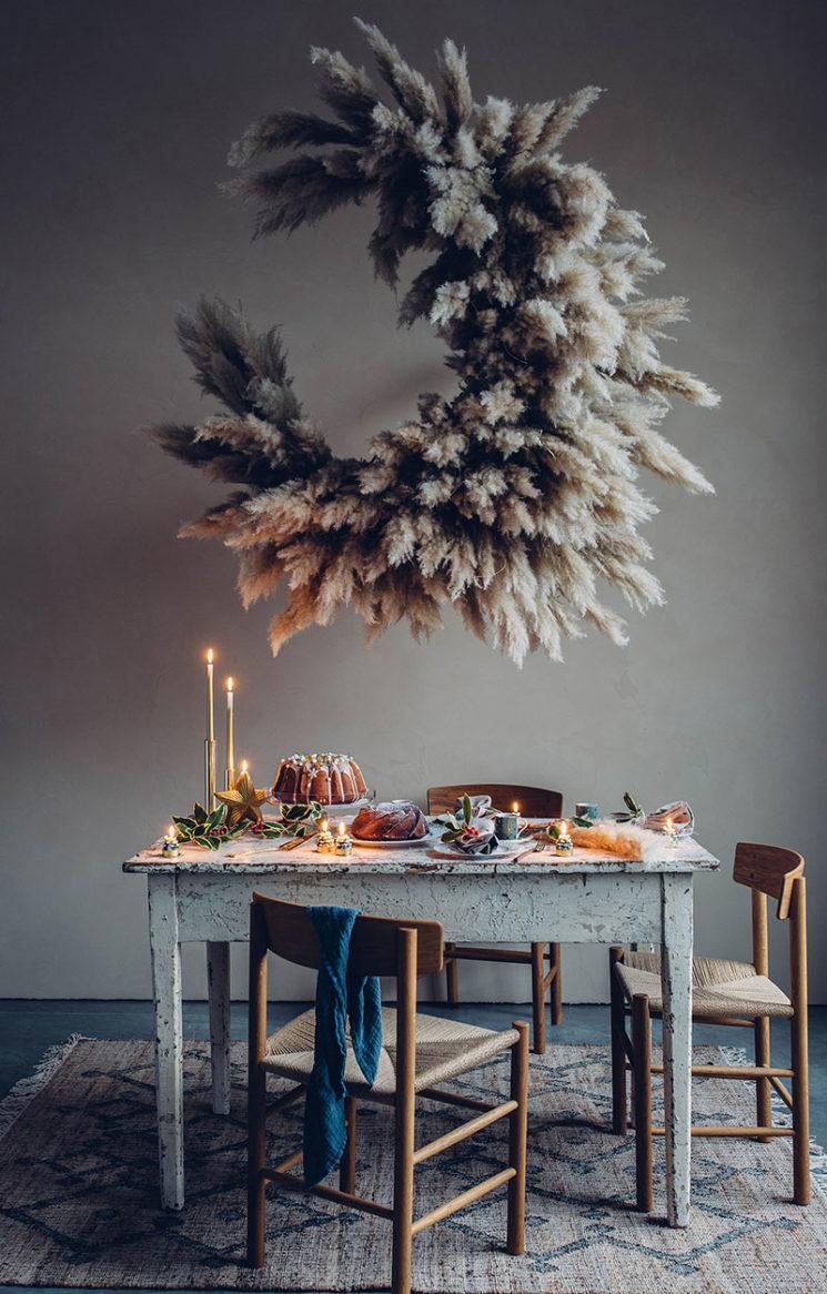 Nuage de fleurs de pampa signé Mary Lennox + Our food story pour Zara Home 2019