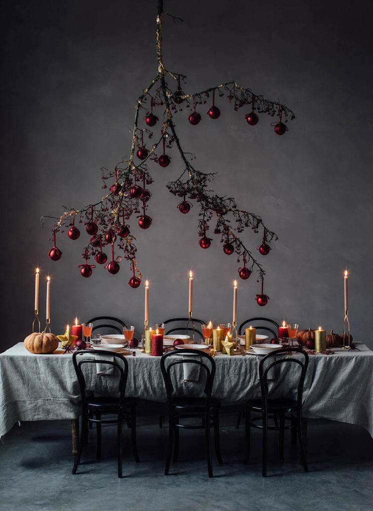 Branche d'arbre et boules de Noël, création de Mary Lennox + Our food story pour Zara Home 2019
