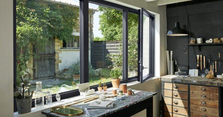 Quel matériau choisir pour ses fenêtres ? Fenêtre Graphique en aluminium, Lapeyre