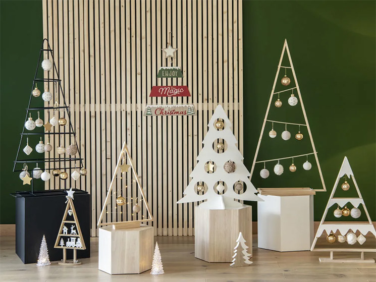Collection de sapins de Noël alternatifs par Maisons du Monde