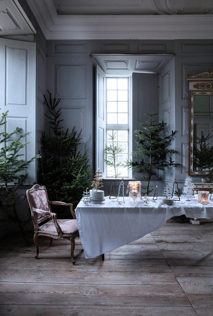 Table de Réveillon au château - Catalogue de Noël 2019 de la marque danoise Walther&co