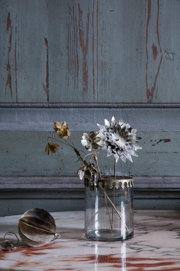 Vase verre et laiton - Walther&co