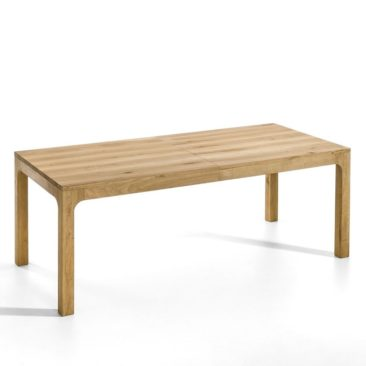 Table en chêne massif à rallonges, Théadora sur Ampm