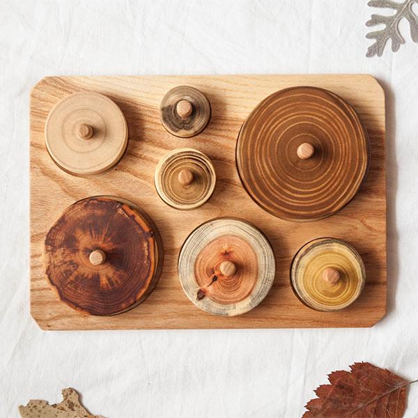 Jeu en bois, puzzle Montessori, Cercles - Boutique Mamuna Bird sur Etsy