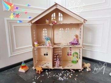 Maison de poupée en bois pour Barbie - Boutique Gift Wood Shop sur Etsy