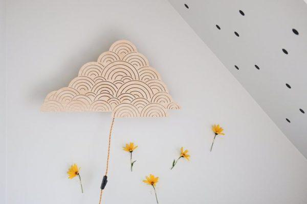 Lampe en bois, Nuage - Boutique Pa Papa sur Etsy