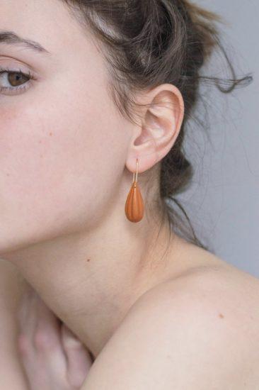Boucles d'oreilles en terre cuite, Nur sur la boutique Etsy Philo K studio