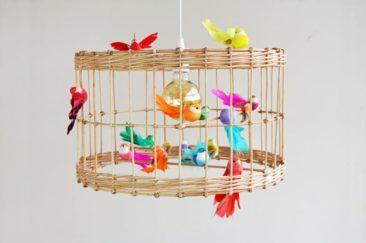 Suspension volière e à oiseaux en bambou - Boutique SV wood Design - Etsy