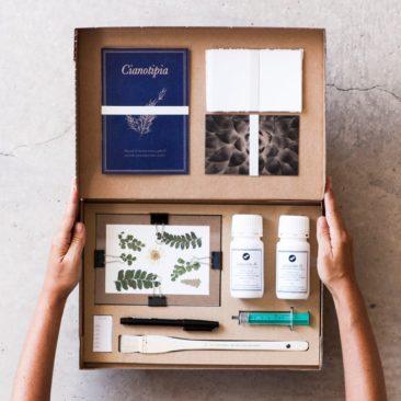 Kit pour réaliser des cyanotypes sur la boutique Textures factory