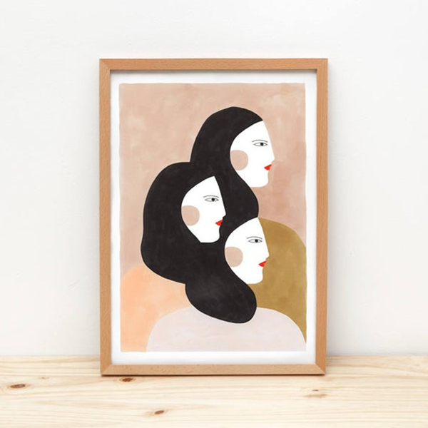Portrait de 3 femmes sur la boutique de l'illustratrice Depeapa
