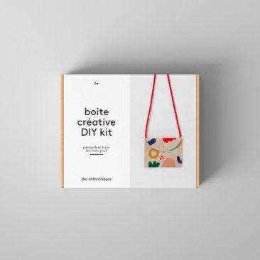 Boite créative - Petite pochette de cuir - Boutique Des Enfantillages sur Etsy