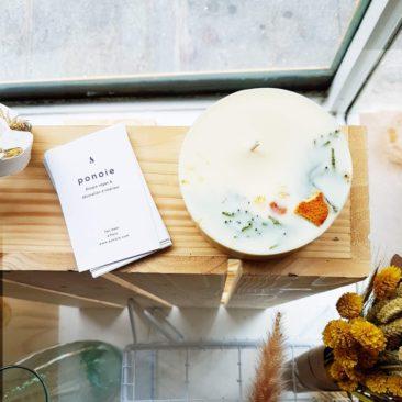 Bougie parfumée aux huiles essentielles bio, ORANGE & CYPRÉS 300 ml sur la boutique Etsy Ponoie