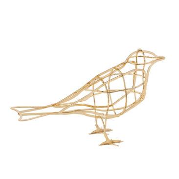 Oiseau en métal, décoration De l'Aube, design : Benoît Convers, Rachel Convers - Ibride