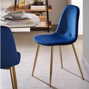 Chaise en velours bleu, Lissy - Kave Home