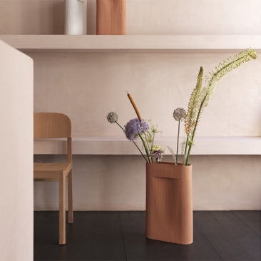 Vase Ridge Terracotta, design : Studio Kaksikko - Muuto
