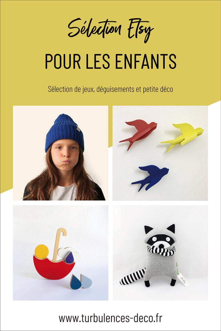 A retrouver sur turbulences-deco.fr une sélection shopping Etsy pour les enfants