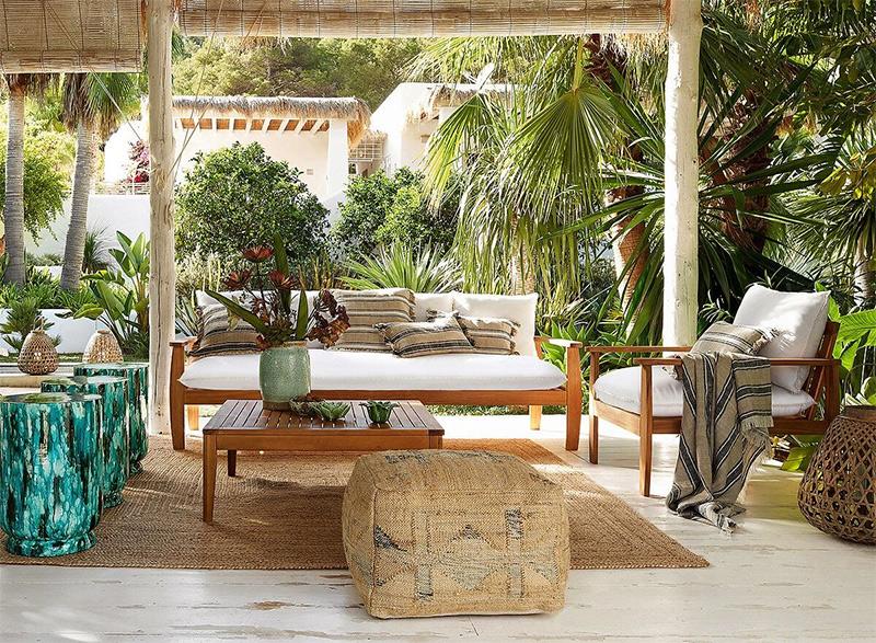 Catalogue printemps-été 2020 Ampm // Canapé et fauteuil en acacia, Nellia - 249 €