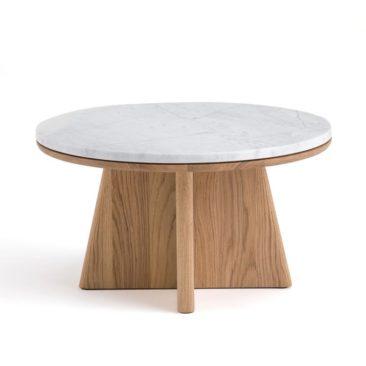 Table basse ronde, Échos, design E. Gallina pour Ampm