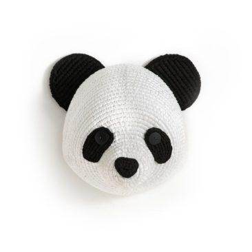 Tête de panda murale, Lapilli sur Ampm