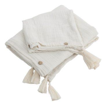 Parure de lit adulte en gaze de coton Ecru - Automn