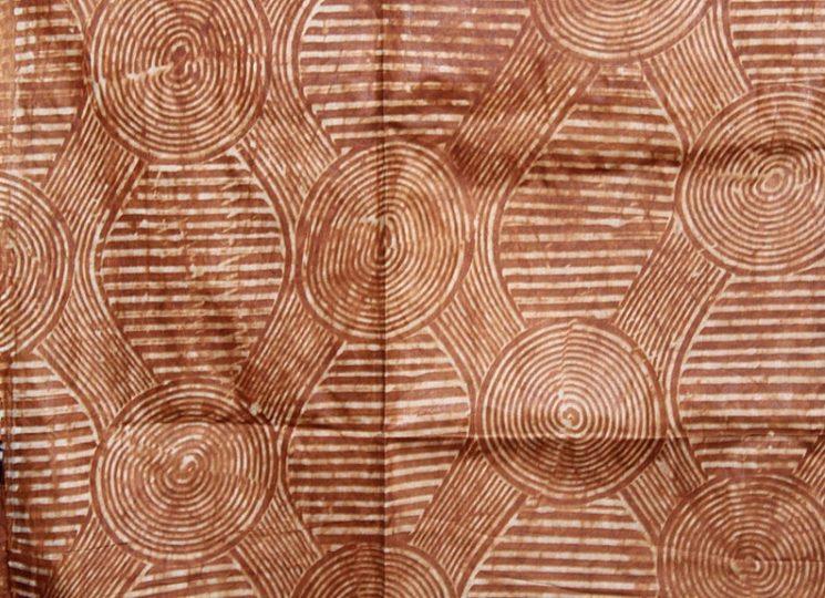 Batik africain dans les tons terracotta, fait main, 89,24 € sur la boutique Etsy Adirelounge
