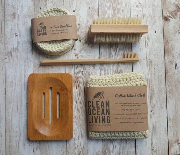 Kit de salle de bains écologique, 24,07 € sur la boutique Etsy Clean Ocean Living